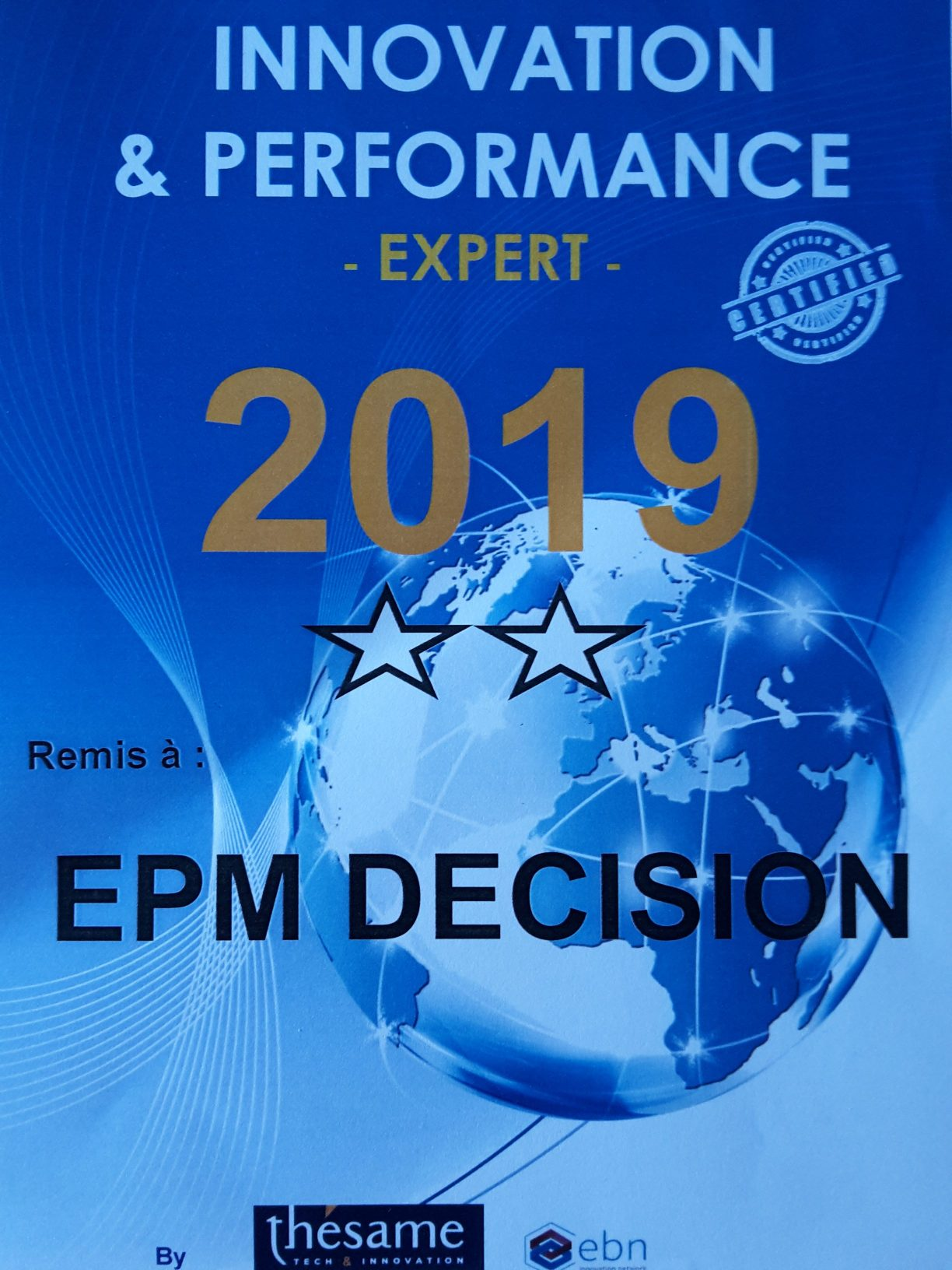 EPM DECISION rejoint le Thésame, centre expert des métiers de l'innovation